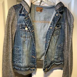 Brand new jean jacket hoodie